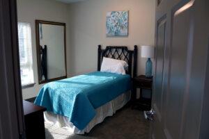 One bedroom in model home